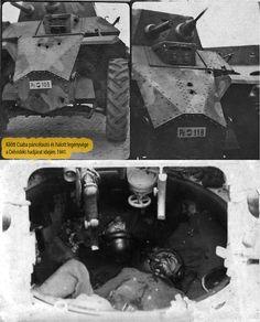 Délvidéki hadjáratban kilőtt Csaba páncélautók és elesett legénységük.1941. Armored Car, Armored Vehicles, Military Pins, Defence Force, Military Equipment, Axis Powers, Hungary, Military Vehicles, Wwii