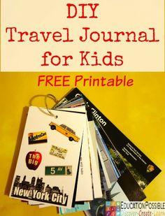 Start with a free printable to assemble this fun DIY Travel Journal. Your students will then add notes, photos, and souvenirs to reinforce their understandings of geography.