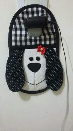 Porta carregador de celular cachorro