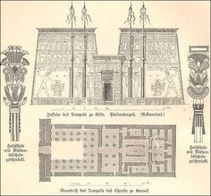 EDFU diagram and plan   ANCIENT EGYPTIAN TEMPLES   World Topics   Facts  and Detailst image030 2 jpg  696 480    Architecture   History   Pinterest  . Ancient Egyptian Architecture Timeline. Home Design Ideas