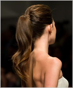 Pretty wedding ponytail
