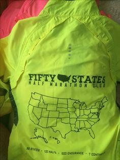 Awesome Neon Safety Green/Yellow Ogio Running Jacket - Fifty States Half Marathon Club running jacket www.50stateshalfmarathonclub.com