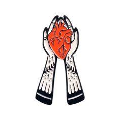 Heart in Hands Enamel Pin