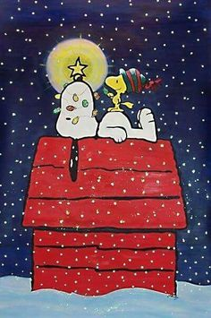 MERRY CHRISTMAS SNOOPY & WOODSTOCK