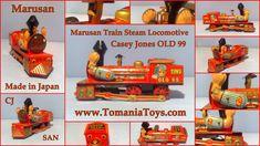 TOMS TECH TOYS: TRAINS LOCOMOTIVES Casey Jones, Police Patrol, Tech Toys, Ford Fairlane, Steam Locomotive, Disney Films, Japan, Trains, Toms