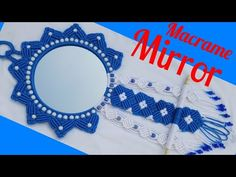 Macrame Mirror, Macrame Art, Macrame Toran, Jhumar, Conception, 4th Of July Wreath, Diy And Crafts, Make It Yourself, Artwork