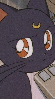 Luna And Artemis, Sailor Moon Wallpaper, Good Old Times, Kawaii Anime, Aesthetics, Kids Rugs, Cartoon, Photo And Video, Cats