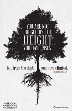 You are not judged by the height you have risen, but from the depth you have climbed. - Frederick Douglass black American social reformer, abolitionist, orator and statesman Frederick Douglass, George Orwell, Friedrich Nietzsche, Neil Gaiman, Martin Luther King, Jackie Robinson, Great Quotes, Quotes To Live By, Wisdom Quotes