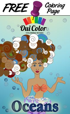 #Free #Oceans #ColoringPage from Oui Color Coloring Books #Mermaid #Petunia #adultcoloring #adultcoloringpage #coloringbook #Oceans #nature