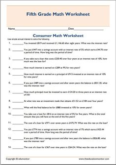 Worksheet Consumer Math Worksheets Pdf math worksheets and fifth grade on pinterest homeschooling consumer worksheet printable free worksheet
