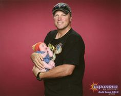 Baby wearing a Jayne hat while being held by Adam Baldwin. The amount of win and awwww in this picture is overwhelming.