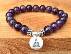 A Grade Amethyst Bracelet Yoga Bracelet Amethyst Jewelry