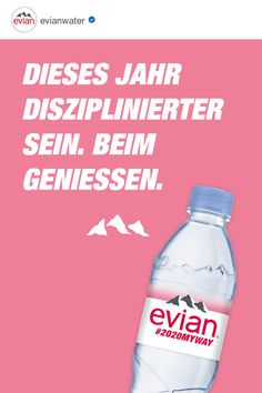 evian natural mineral water originates from rain and snow deposited on the catchment area, a millennia-old site in the heart of the French Alps surrounded by mountains and glaciers. Natural Mineral Water, Law Of Attraction, Water Bottle, Blog, Branding, Quotes, Laughing, Proverbs Quotes