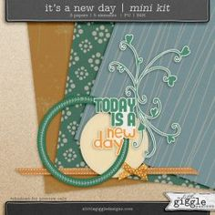 {It's a New Day} Mini Kit | A Little Giggle Designs
