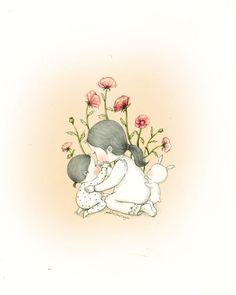 작은 위로(Small comfort) by 꼬닐리오 on Grafolio Korean Illustration, Cute Illustration, Cute Disney Drawings, Cute Drawings, Bunny Art, Korean Art, Cute Art, Art Sketches, Graphic Art