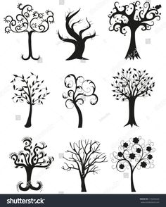 stock-vector-set-of-tree-silhouettes-illustration-110293226.jpg (1283×1600)