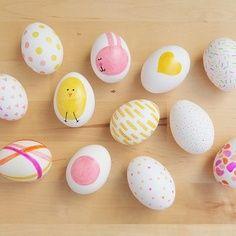 Sharpie Easter eggs.