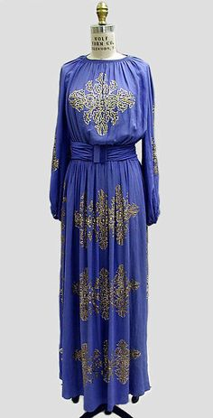 Dinner dress (image 1)   House of Lanvin   French   1939   silk, spangles   Metropolitan Museum of Art   Accession Number: C.I.46.4.17a–c