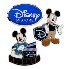 Mickey Mouse Pin Set - 3 pc - Disney Store | Pin Sets | Disney Store