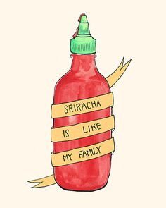 This print combines my love for Sriracha and Wife Swap. This is an 8x10 giclee print of a watercolor and hand lettered piece. Shipped in a plastic