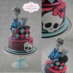 Pastel de Monster High por  cjsweettreats CakesDecor.com.
