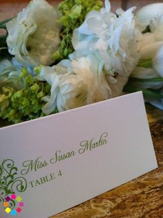 Ariel {38}: Personalized Place Card