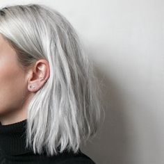 Grey Short Straight Lace Front Synthetic Hair Wigs Side Part Gray Syntheitc Wigs With baby Hair hair aesthetic Grace Fantasy Hair Trendy Hairstyles, Wig Hairstyles, Grey Bob Hairstyles, Short Haircuts, Pastel Hair, Pastel Bob, Dream Hair, Synthetic Hair, Hair Looks