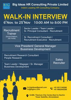 CHANGE IS INEVITABLE. CHANGE FOR THE BETTER IS TO HAVE PASSIONATE JOB.  We are currently recruiting for 80 open positions.     Message Now.    Don't delay – APPLY TODAY and take the first step towards a better way of life.     #walkin_interview #jobsinahmedabad #trainers #jobs #Career #BigIdeasHR