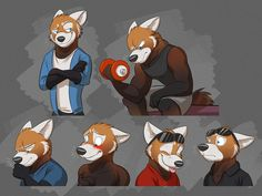 Commission: Justin's Expression Sheet #2 by Temiree