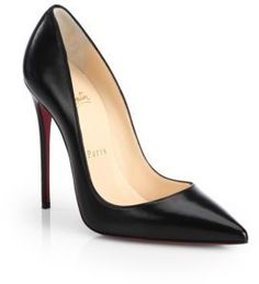 Christian Louboutin So Kate Leather Point-Toe Pumps