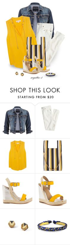"""""""Yellow for Spring"""" by regatta-1 ❤ liked on Polyvore featuring maurices, J.Crew, MICHAEL Michael Kors, STELLA McCARTNEY, Nicole Miller, Wolf & Moon and Aurélie Bidermann"""