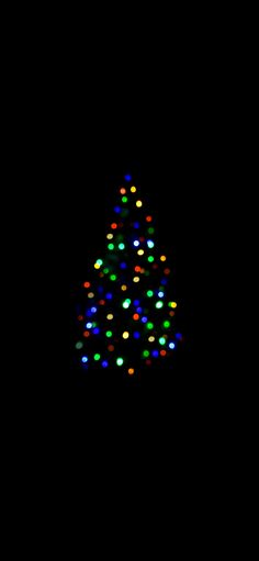 Out of focus Christmas tree Amoled Wallpaper - Amoled. Amoled Wallpapers, Minimalist Christmas, Simple Wallpapers, Out Of Focus, Christmas Wallpaper, Glow, Christmas Tree, Rainbow, Display