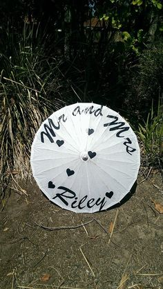 Personalised paper parasols - for more info contact bridalbrollies@hotmail.com, located in Brisbane Australia - postage available world wide