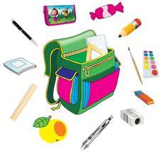Didaktikus játék gyerekeknek - Felkészülés az iskolába.  Gyűjteni egy hátizsák
