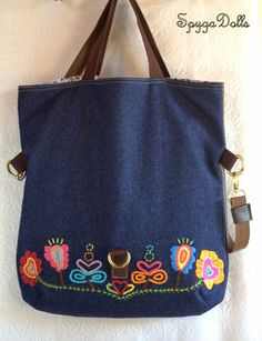 "New Cheap Bags. The location where building and construction meets style, beaded crochet is the act of using beads to decorate crocheted products. ""Crochet"" is derived fro Diy Tote Bag, Reusable Tote Bags, Sacs Design, Bag Women, Embroidery Bags, Craft Bags, Denim Bag, Fabric Bags, Bead Crochet"