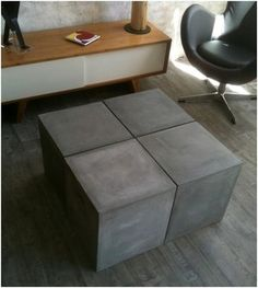 1000 images about beton cir on pinterest concrete - Table de salon en beton cire ...