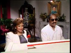 Superstars & Their Moms Stevie Wonder (1987) | Singer Stevie Wonders and his mother Lula Mae Hardaway guest star on a episode of Superstars & Their Moms. During this episode Stevie and Lula Mae talk about working with Motown, and how he describes Lula (or his mom). Throughout the video Stevie is singing and playing the piano.