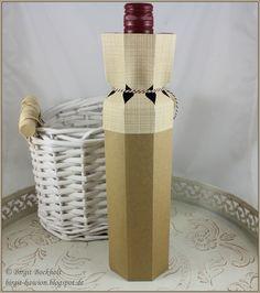 MMM #52 - Geschenkverpackung für eine Weinflasche