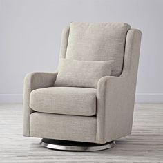 "Shop Cream Milo Swivel Glider.  We tried to find the words to describe just how comfortable our exclusive Milo Glider is.  In the end, the words ""ridiculously comfortable"" kept coming out of our mouths."