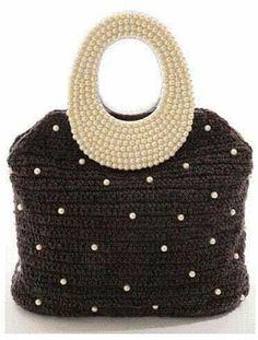 bolsas Crochet Purses, Crochet Clutch, Crochet Handbags, Crochet Bags, Diy Purse, Diy Crochet, Bead Crochet, Knitted Bags, Crochet Designs