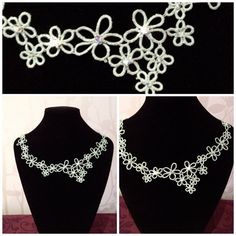 Vintage tatted lace necklace on Etsy, £55.00