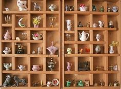 Picture of A collection of miniatures and knick-knacks in a wooden display stock photo, images and stock photography. Printers Drawer, Shadow Box Art, Nerd, Displaying Collections, Miniture Things, Small World, Vintage Toys, Dollhouse Miniatures, Creative
