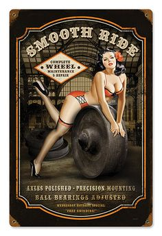 Smooth Ride Pin-up Metal Sign
