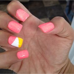 doing this this weekend :) sooo cute..  i just need the orange color. CHINA GLAZE HERE I COME!!!