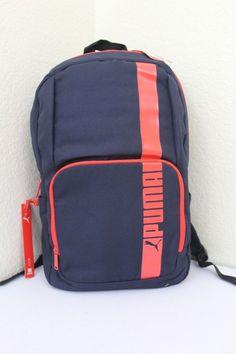 97635a63b2 Puma backpack unisex blue laptop compartment new bottle pocket