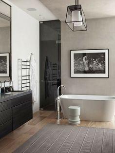 Nat et nature, le blog: Déco black & white n°2 : la salle de bains