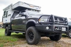 Flat Bed Camper The Four Wheel Campers flatbed truck campers are making a big splash in the overland world lately. They have a proven build quality history, from a proven company, and provide a ton of living space, especially with the huge Granby Flatbed model mounted to a full-size American pickup, like this Cummins RAM 2500