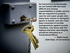 Rollin Cook, Utah Department of Corrections