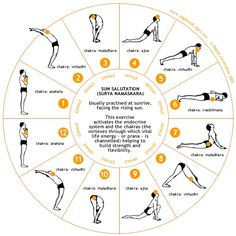 Start your morning with Sun Salutations.  Surya Namaskara - Sun Salutation