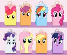 My Little Pony DIY Favor Bag Template My Little Pony Party
